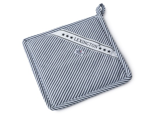 Oxford Navy/White Striped Potholder