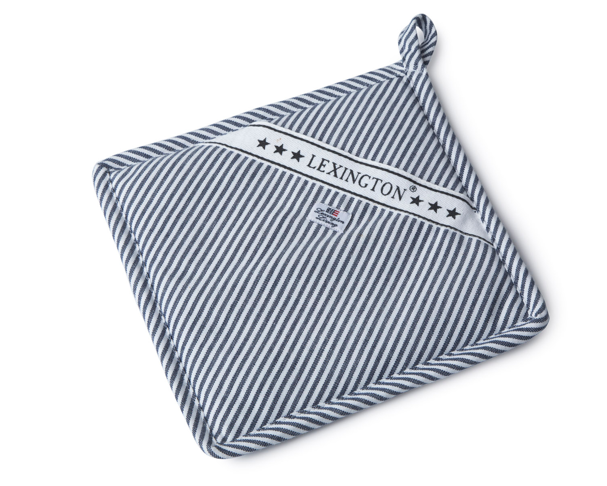Icons Oxford Navy/White Striped Potholder