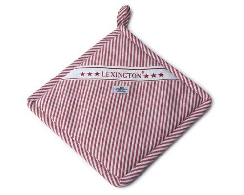 Icons Oxford Red/White Striped Potholder