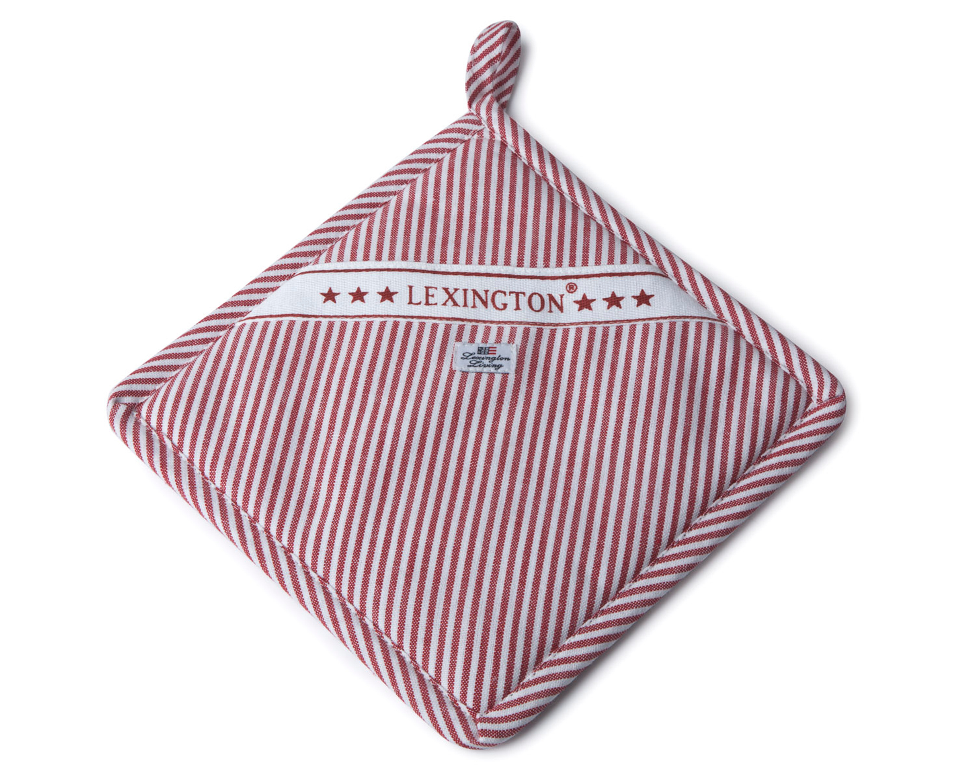 Oxford Red/White Striped Potholder