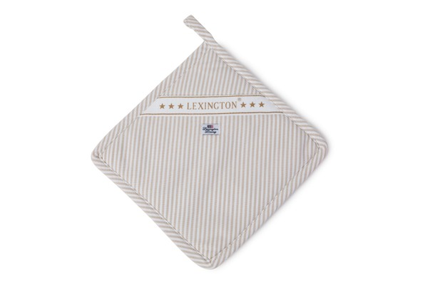 Icons Oxford Beige/White Striped Potholder