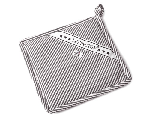 Icons Oxford Dark Gray/White Striped Potholder