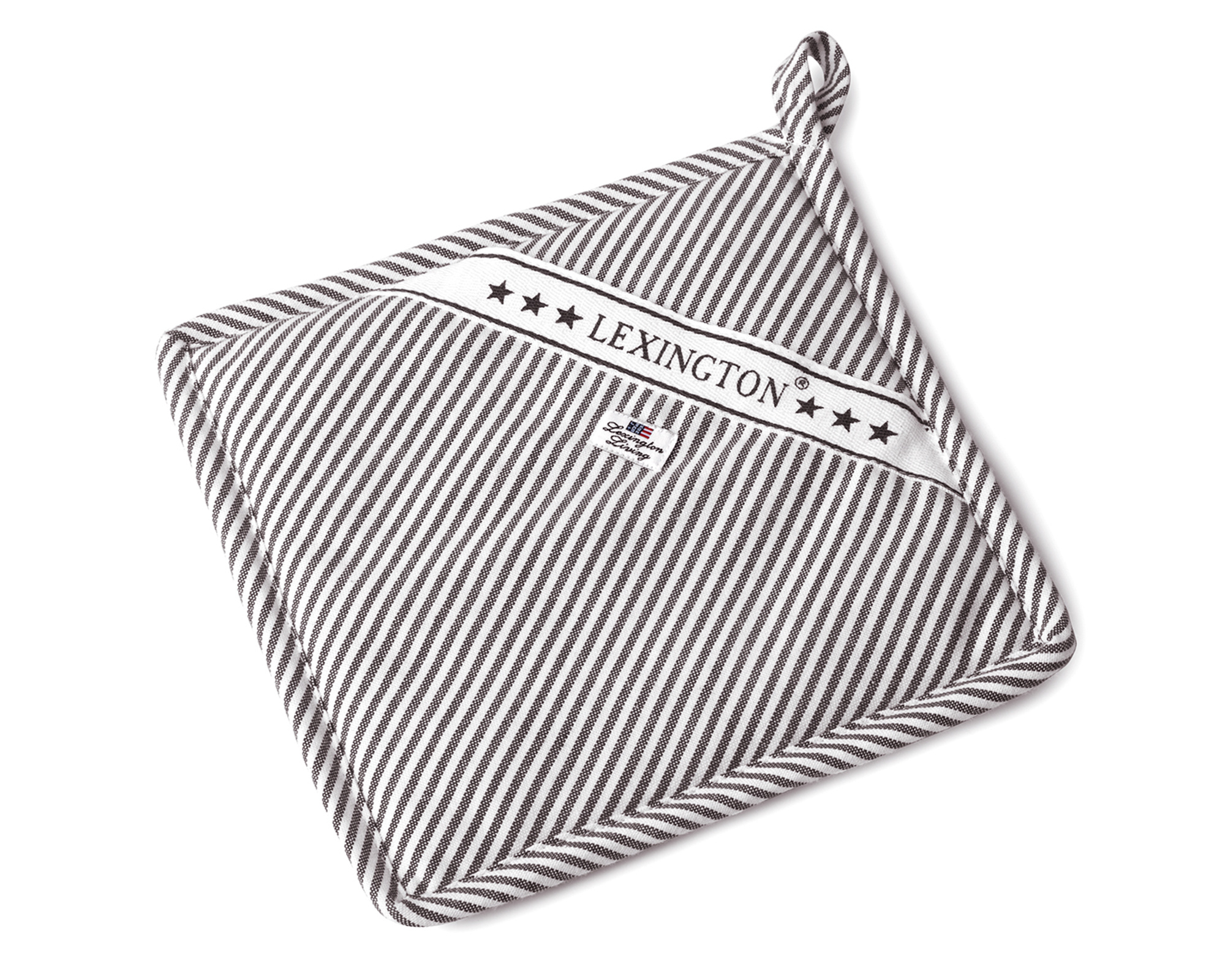 Oxford Dark Gray/White Striped Potholder