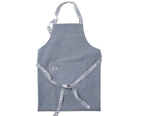 Oxford Navy/White Striped Apron