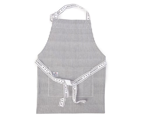 Oxford Dark Gray/White Striped Apron