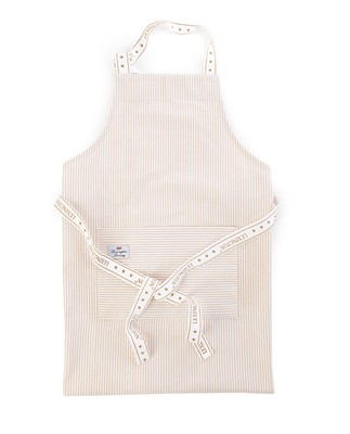 Icons Oxford Beige/White Striped Apron