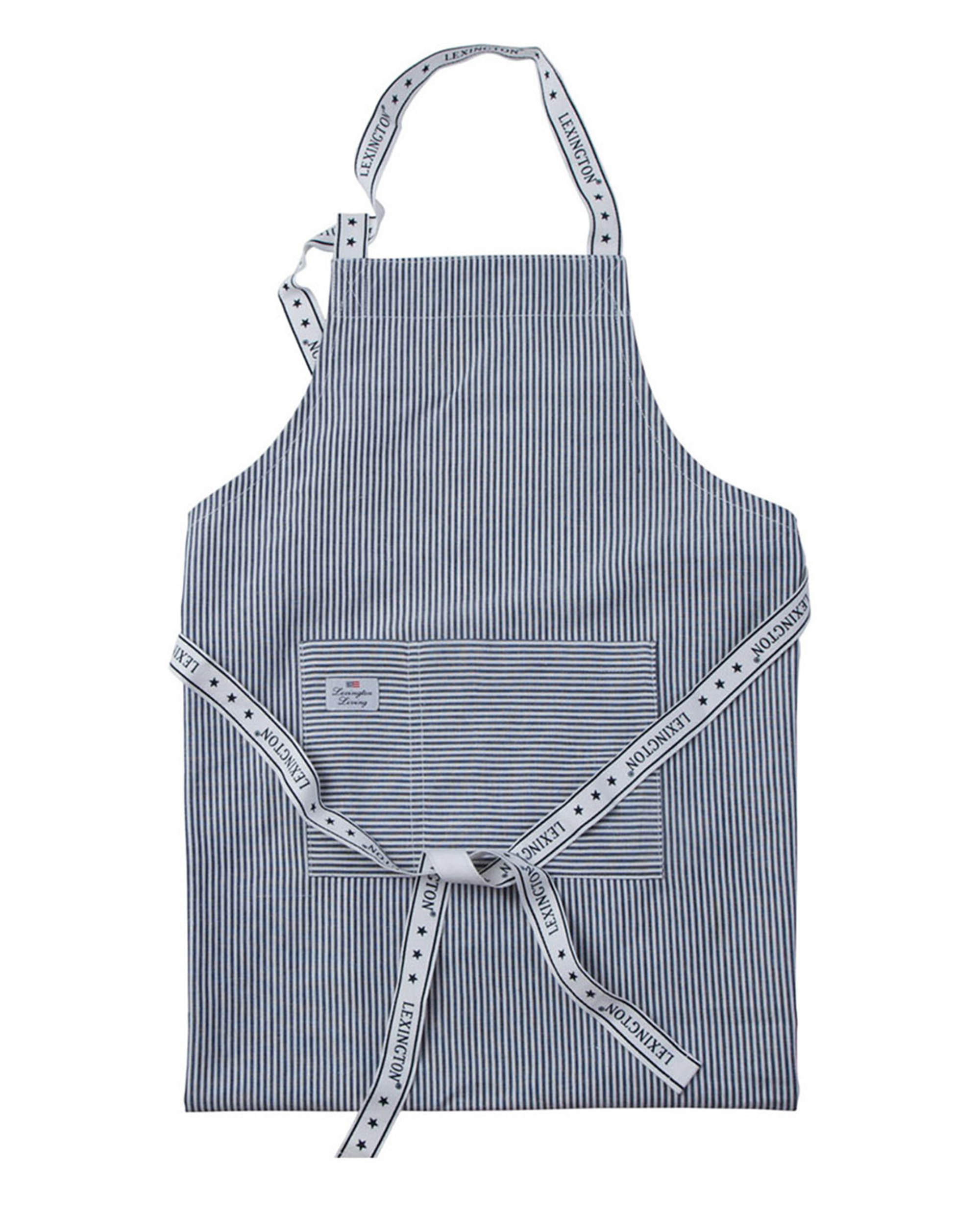 Icons Oxford Navy/White Striped Apron