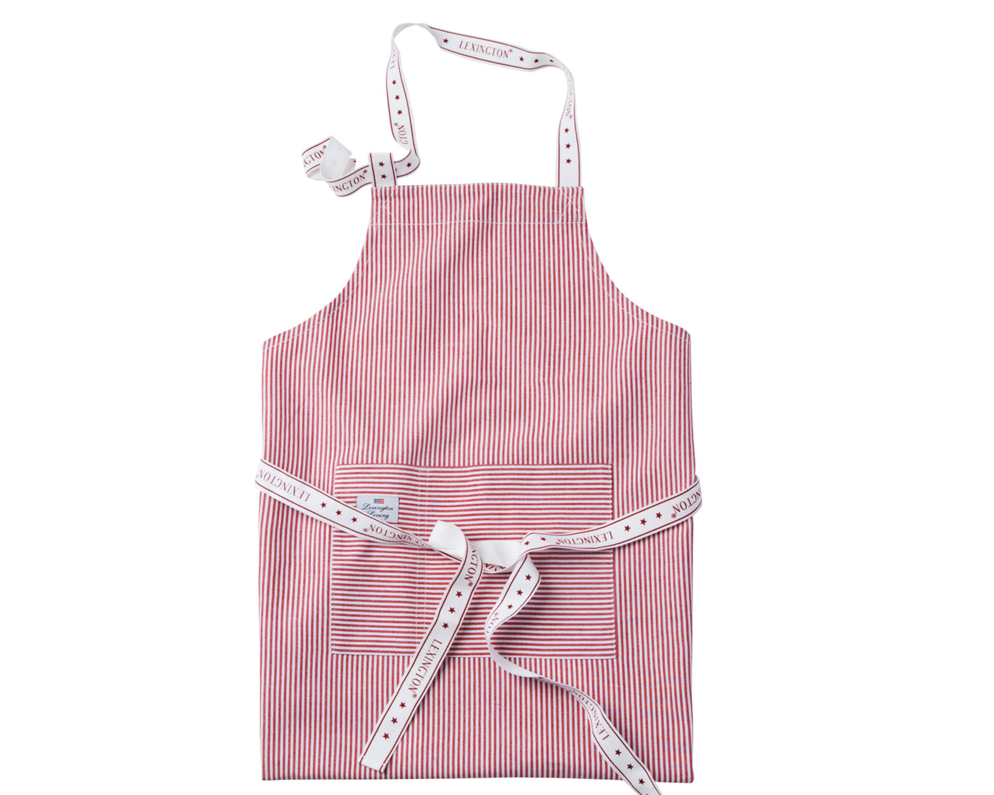 Oxford Red/White Striped Apron