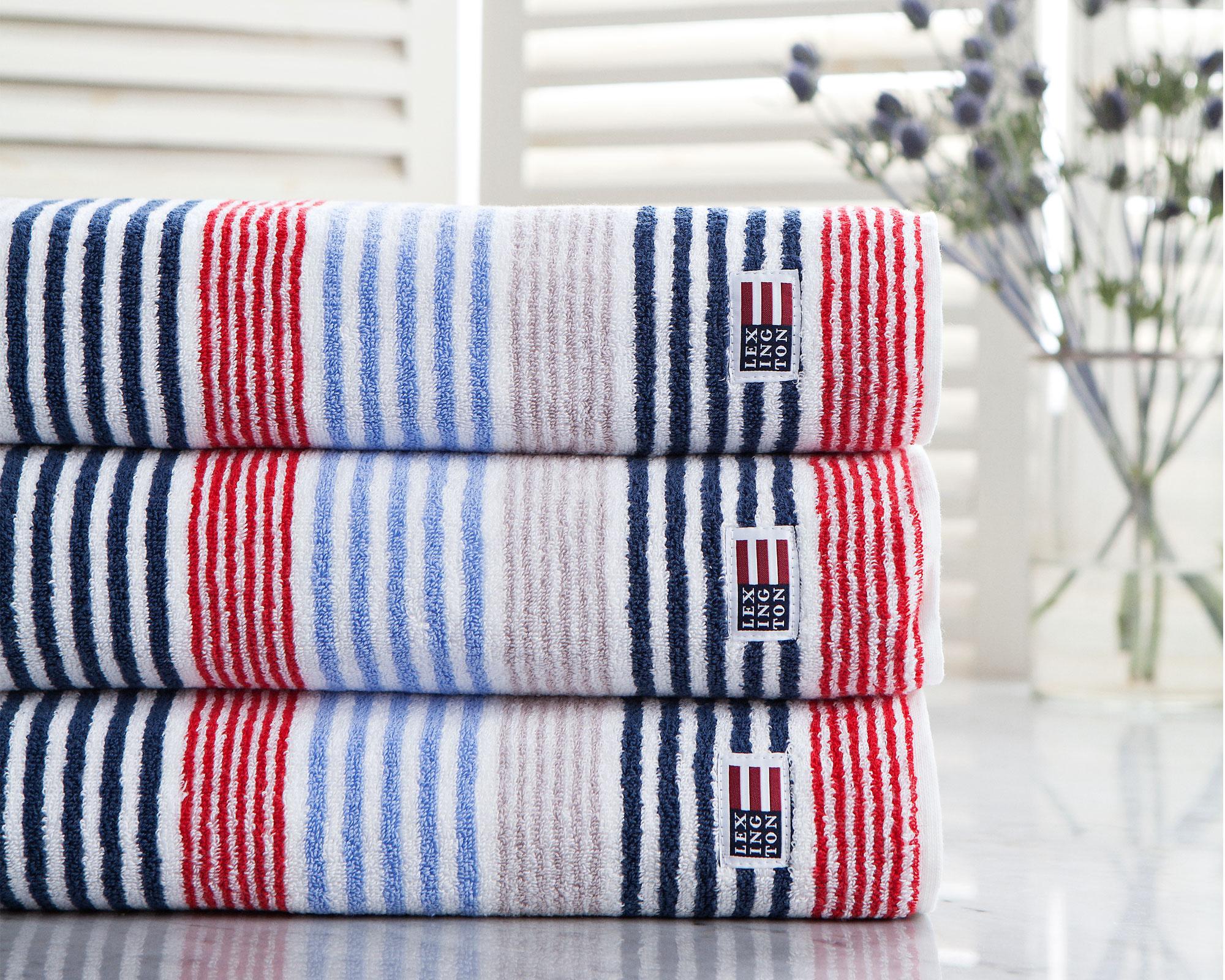 Original Striped Bath Towel Red/White/Blue