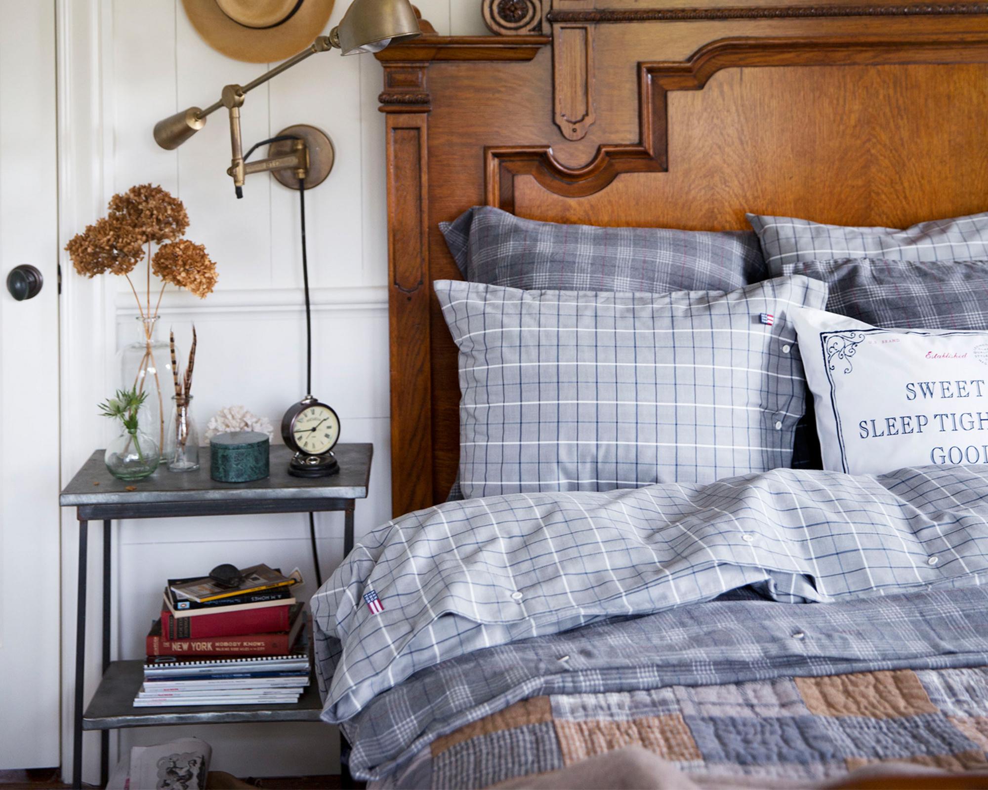 Herringbone Checked Pillowcase
