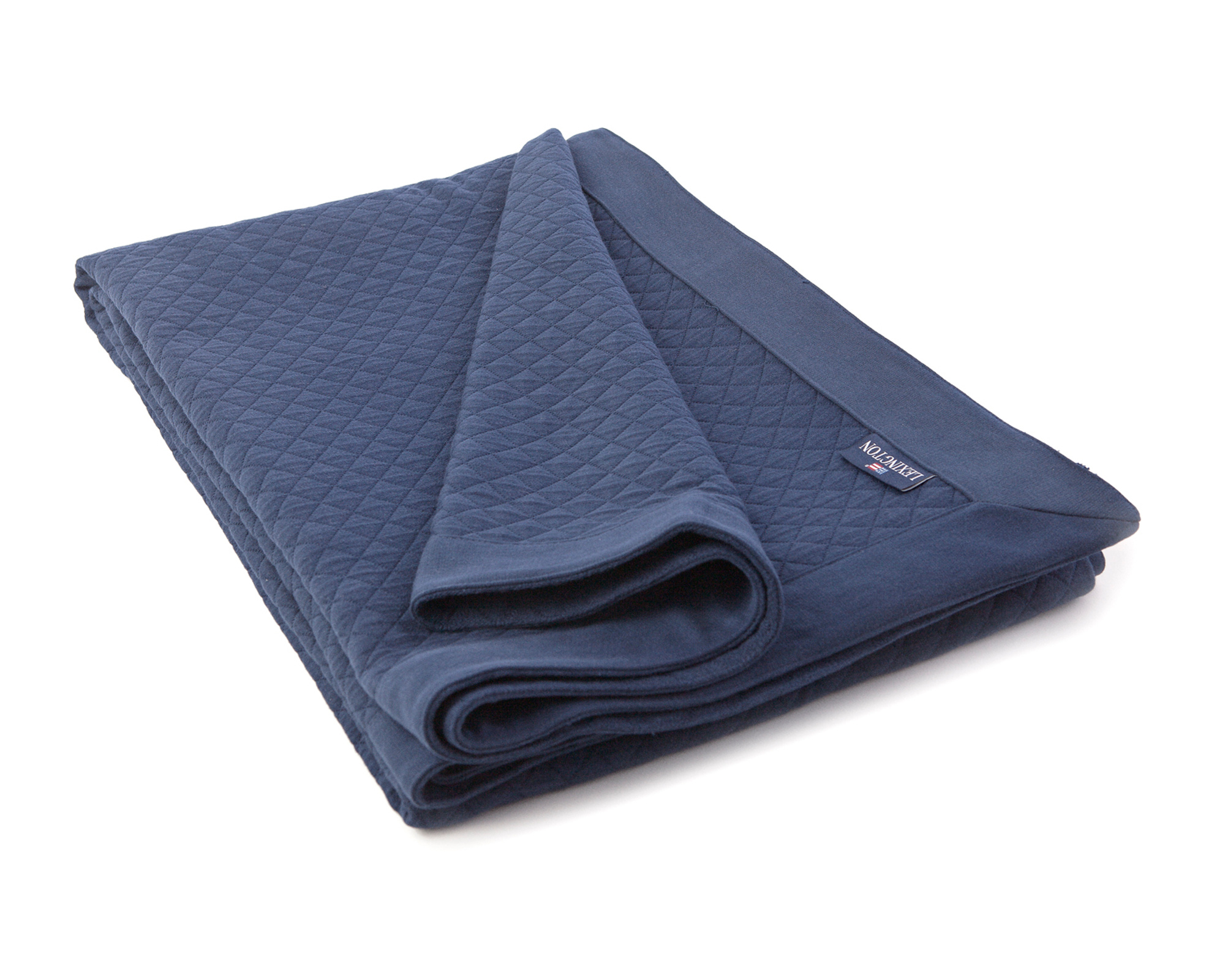 Icons Washed Diamond Bedspread Blue