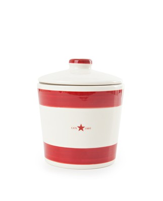 Earthenware Cookie Jar, Red