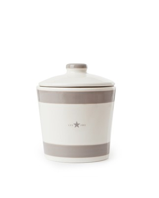 Earthenware Cookie Jar, Beige