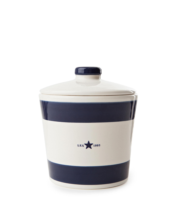 Earthenware Cookie Jar, Blue
