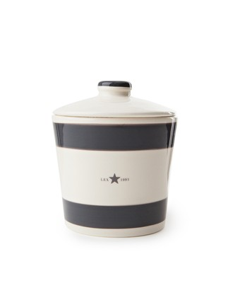 Earthenware Cookie Jar, Gray