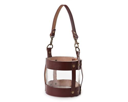 Leather Lantern Small