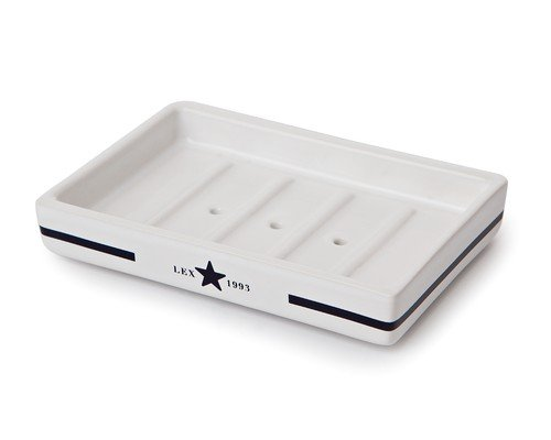 Icons Ceramic Soap Dish, Blue