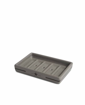 Ceramic Soap Dish, Dk Gray