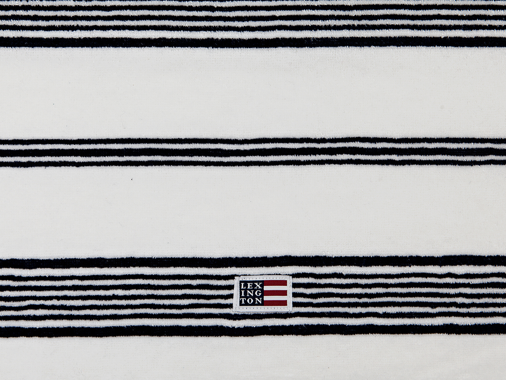 Striped Velour Towel White/Dress Blue