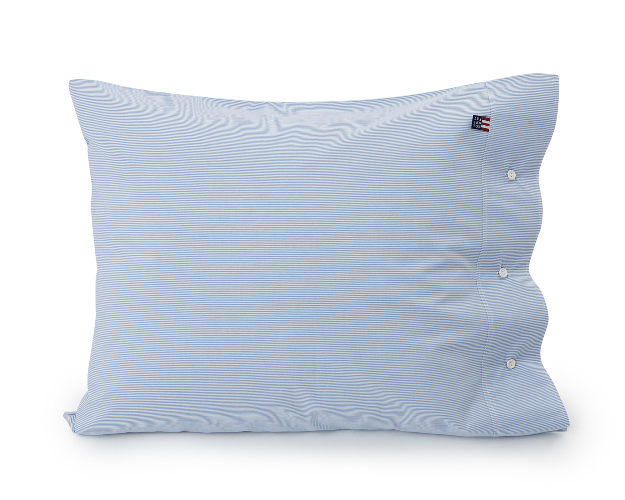 Blue Mini Stripe Poplin Pillowcase