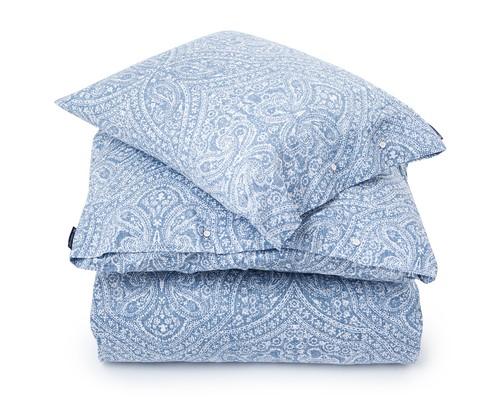 Blue Printed Sateen Flat Sheet
