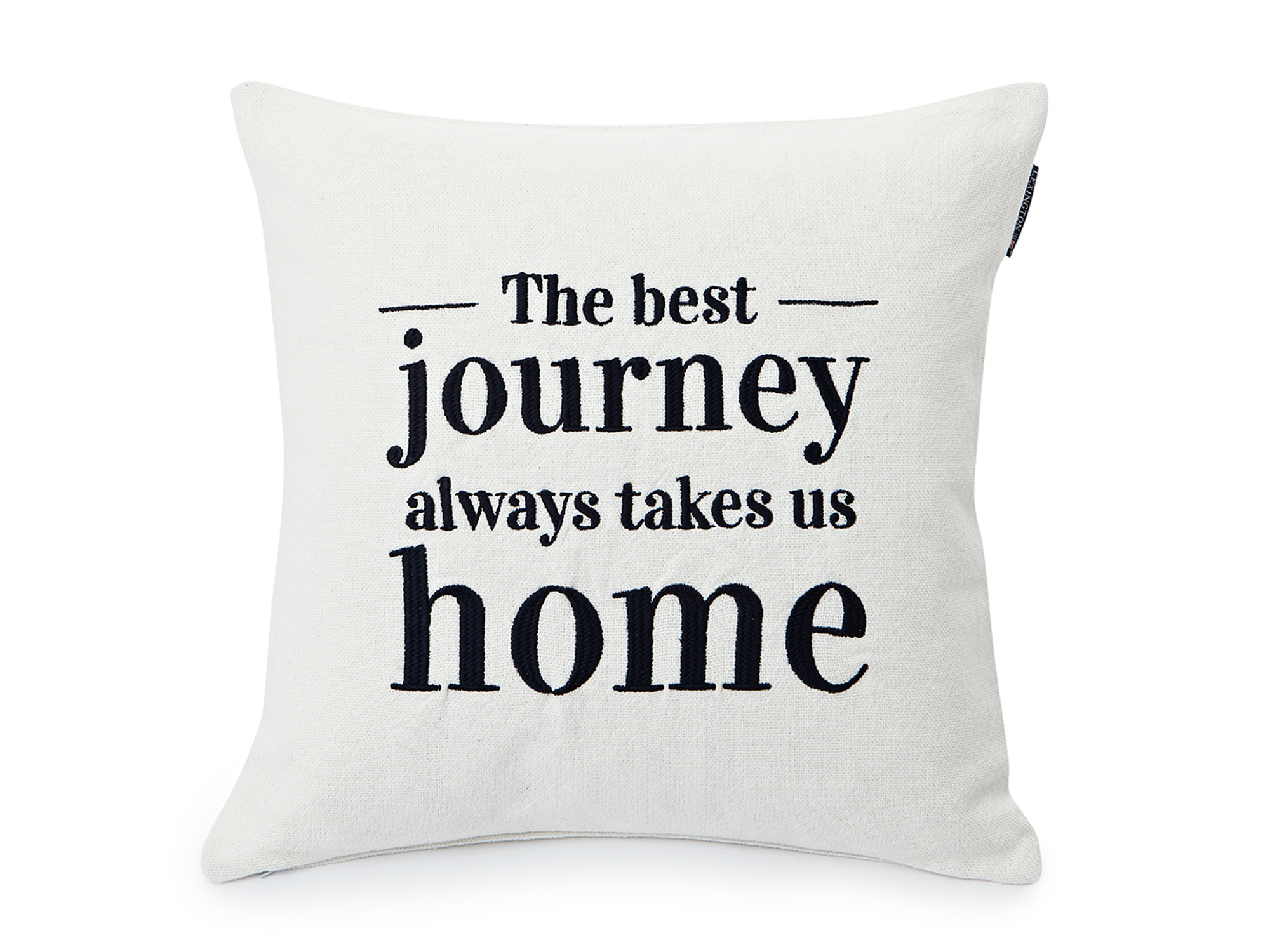 Embroidery Home Sham, White