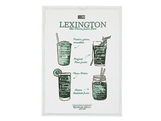 Printed Kitchen Towel, White/Green