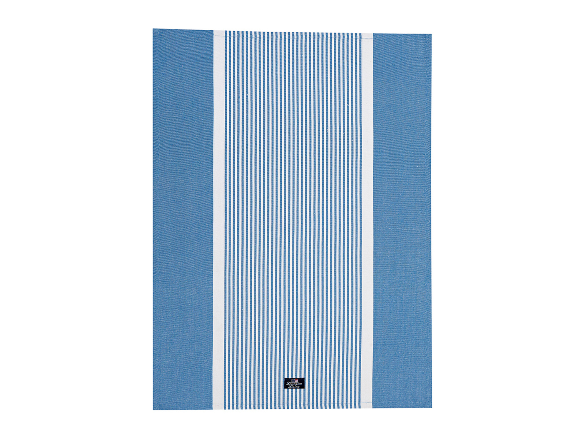 Striped Oxford Kitchen Towel, Blue/White