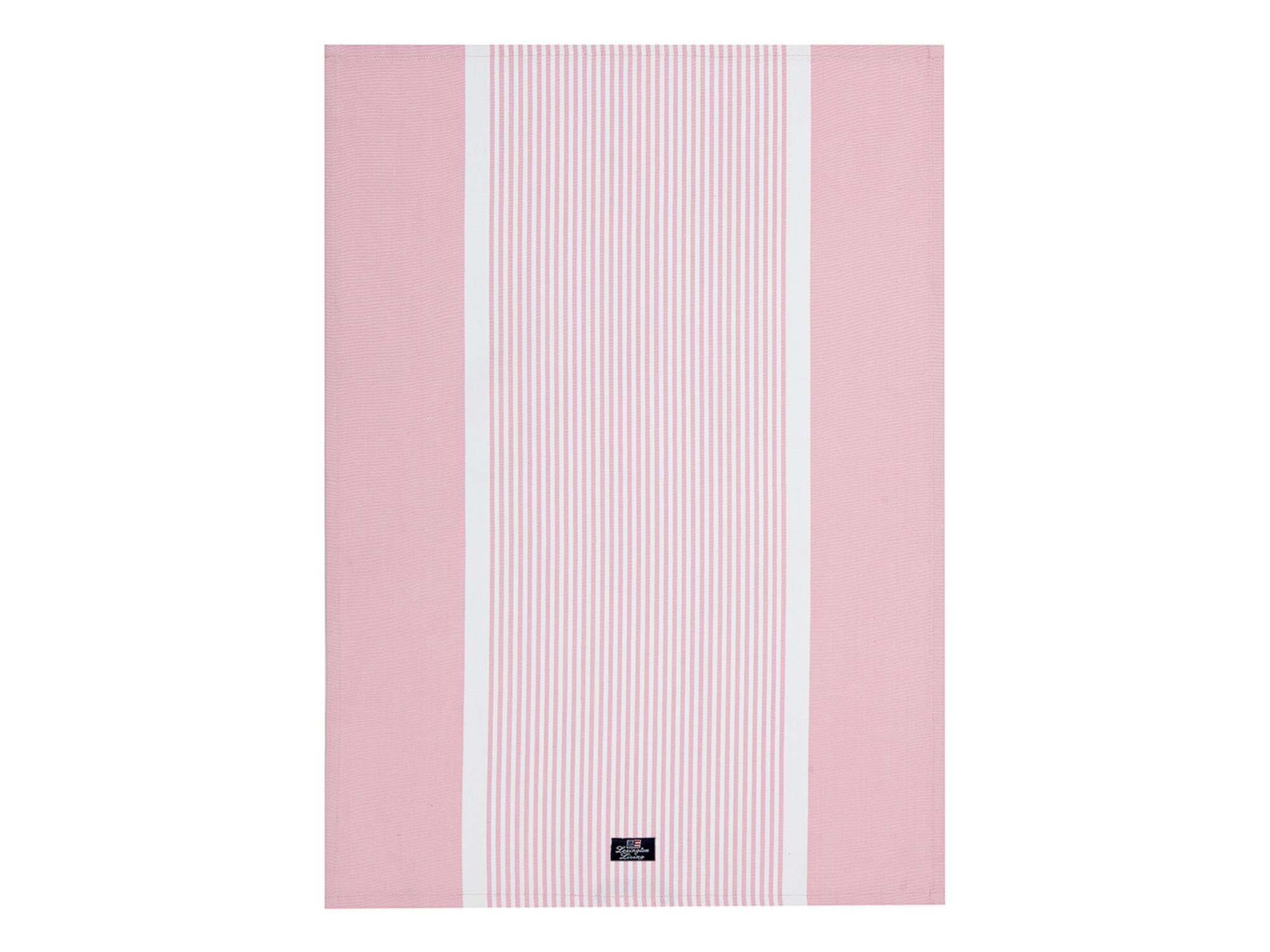 Striped Oxford Kitchen Towel, Pink/White