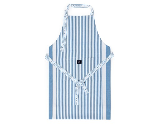 Apron, Blue/White