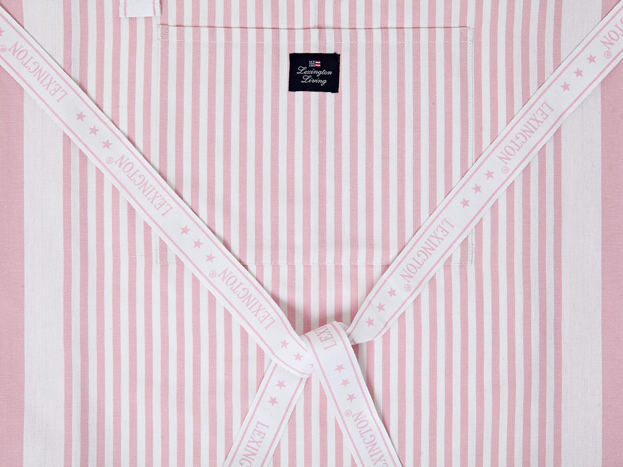Apron, Pink/White