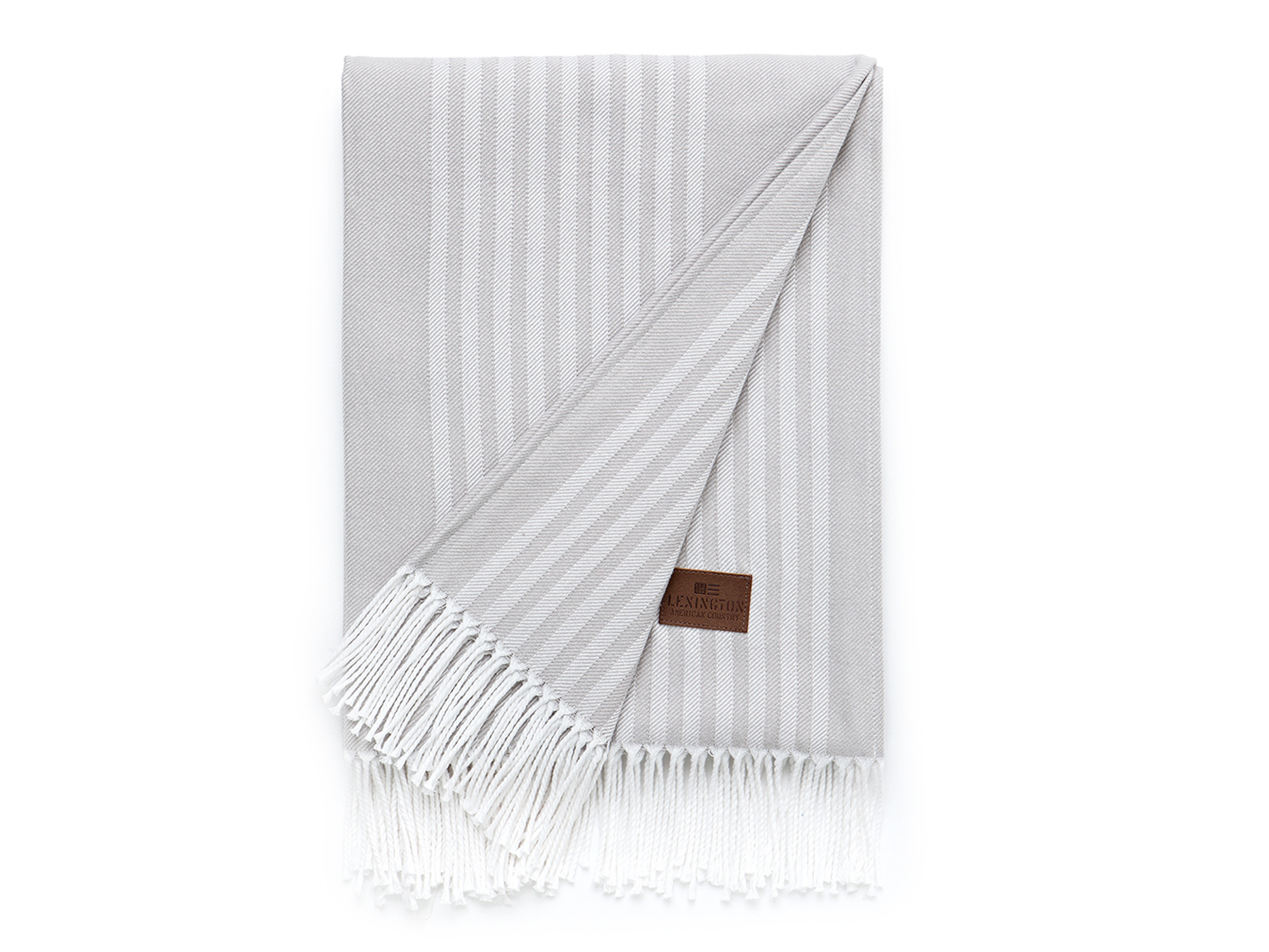 Striped Cotton Throw, Gray