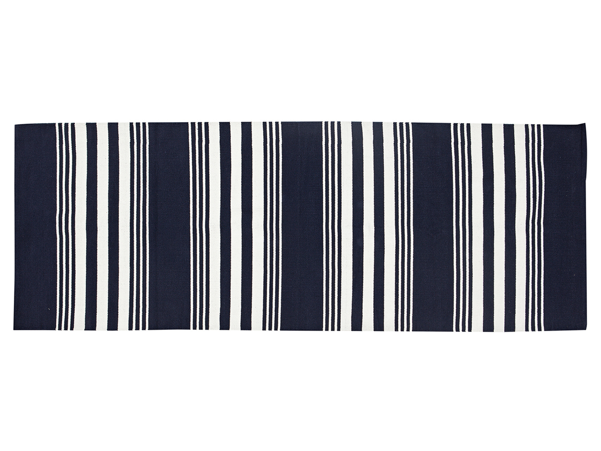 Striped Cotton Rug, Medium