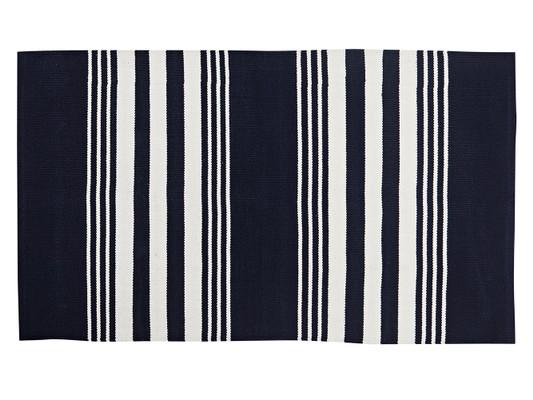 Striped Cotton Rug, Small