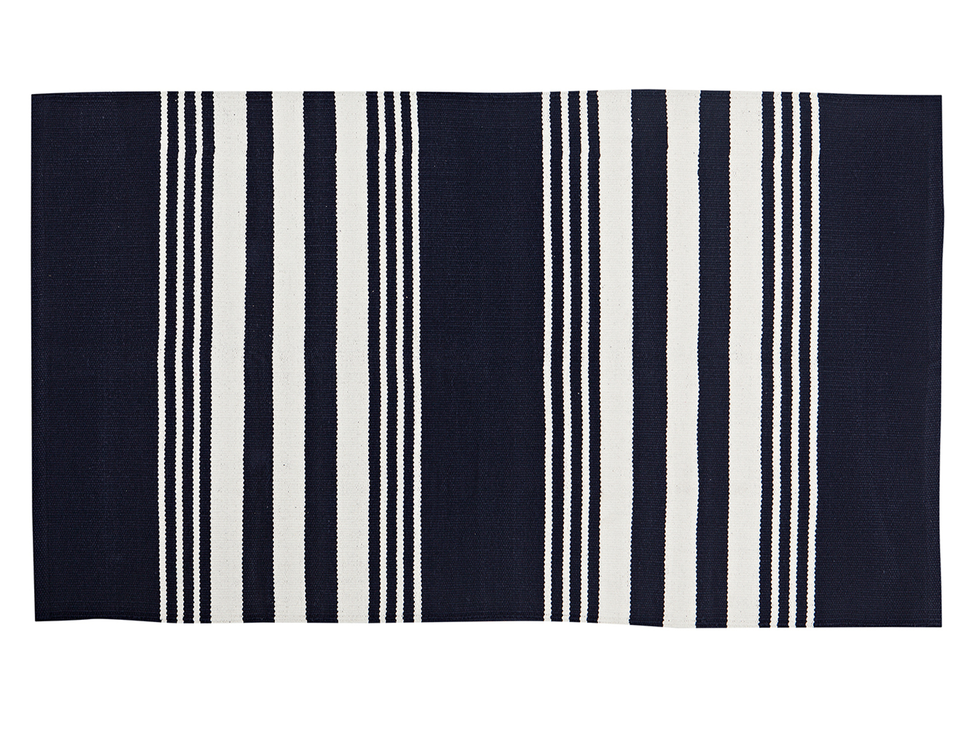 Striped Cotton Rug, Small