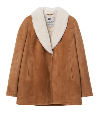 Elisa Shearling Jacket, Chipmunk Brown