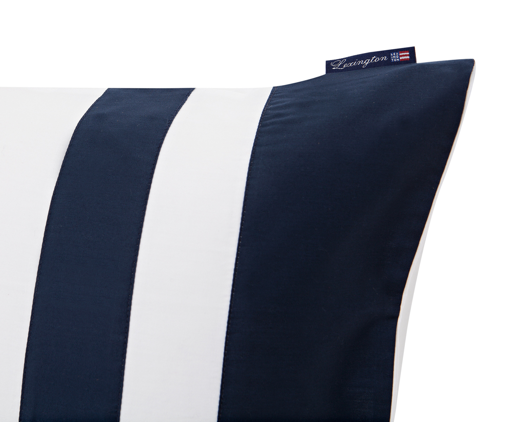 Blue Border Sateen Pillowcase