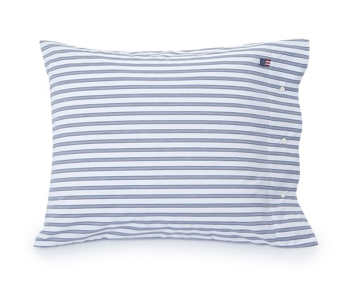 Blue Poplin Stripe Pillowcase
