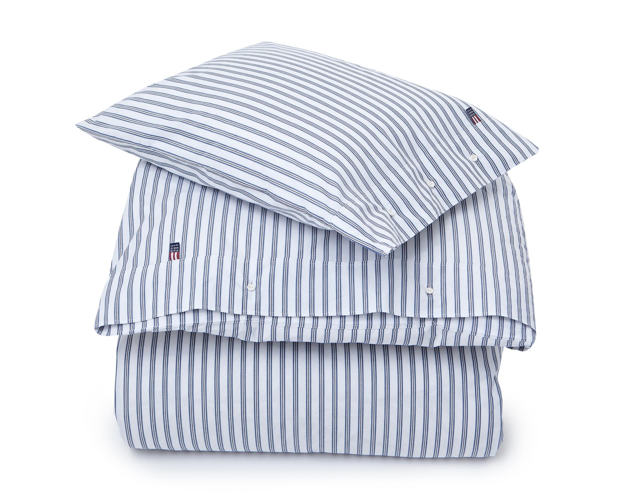 Blue Poplin Stripe Duvet