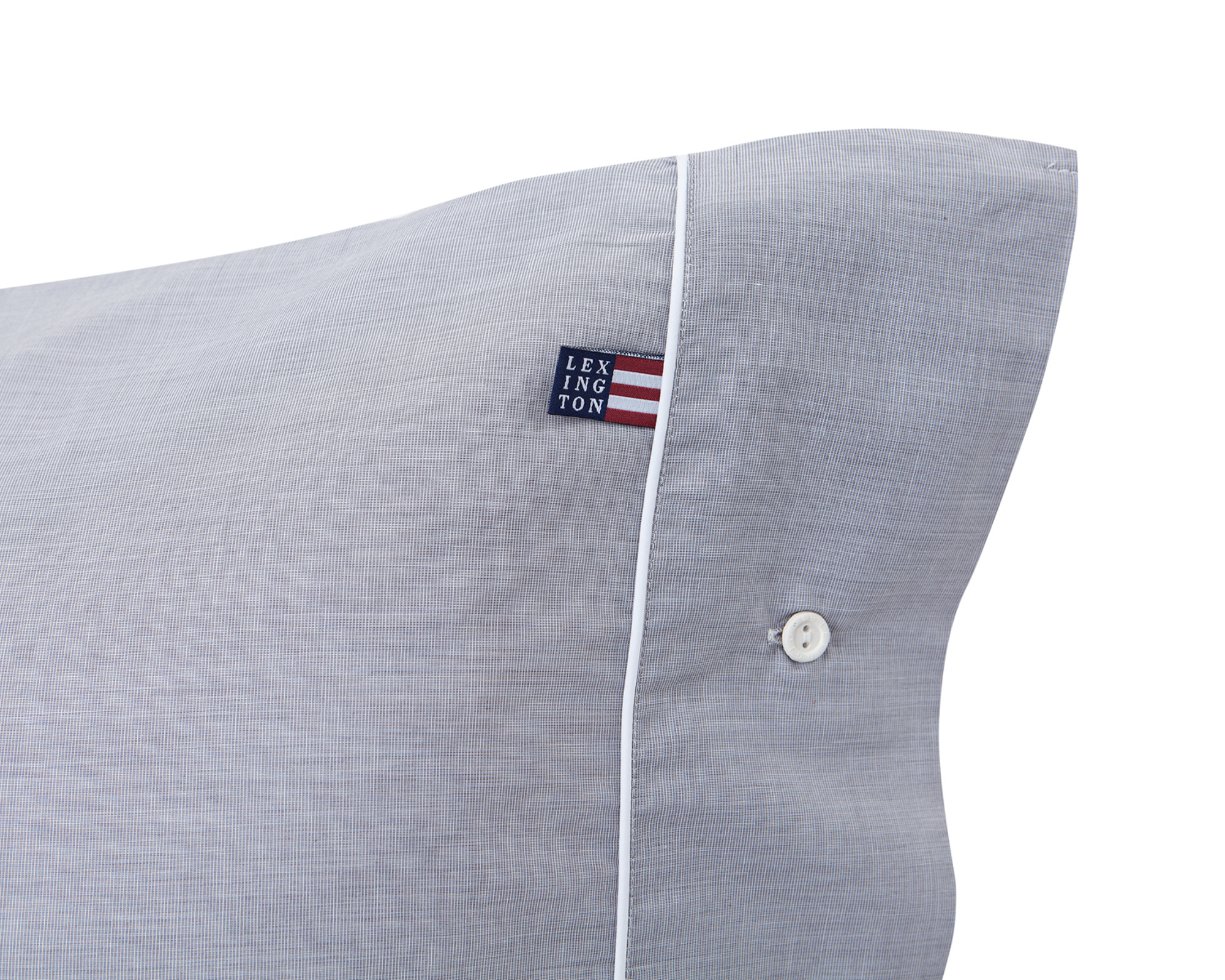 Gray Chambray Pillowcase