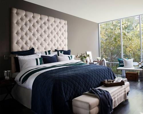 Quilt Velvet Bedspread Blue