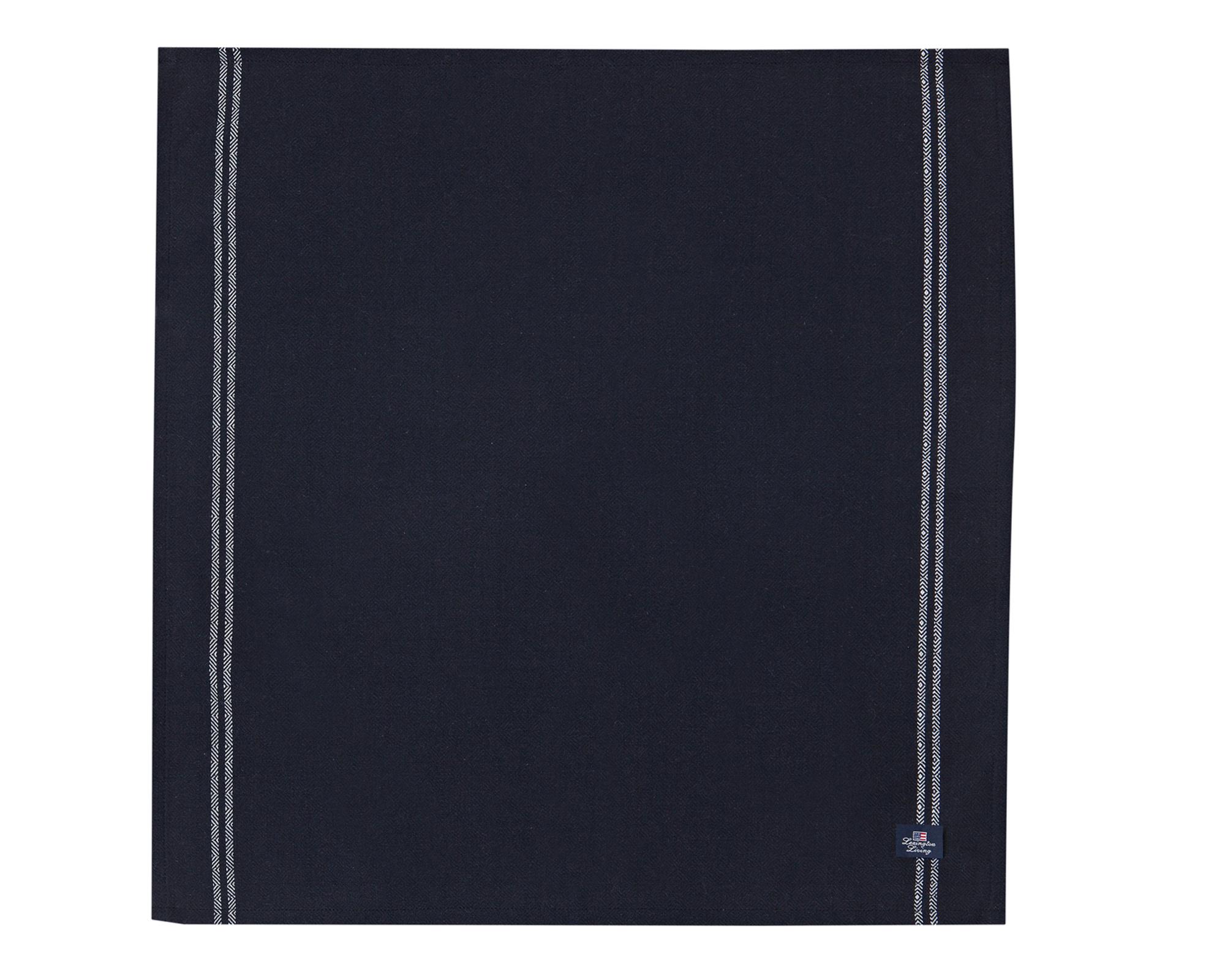 Structured Napkin, Black/White