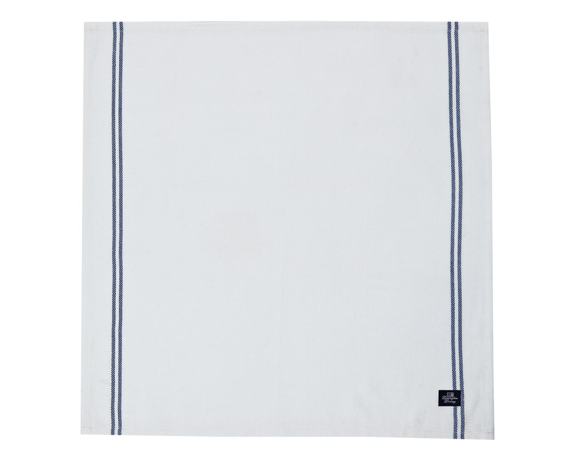Structured Napkin, White/Blue