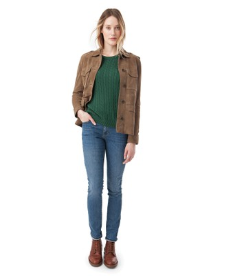 Raven Suede Jacket, Hunter Green
