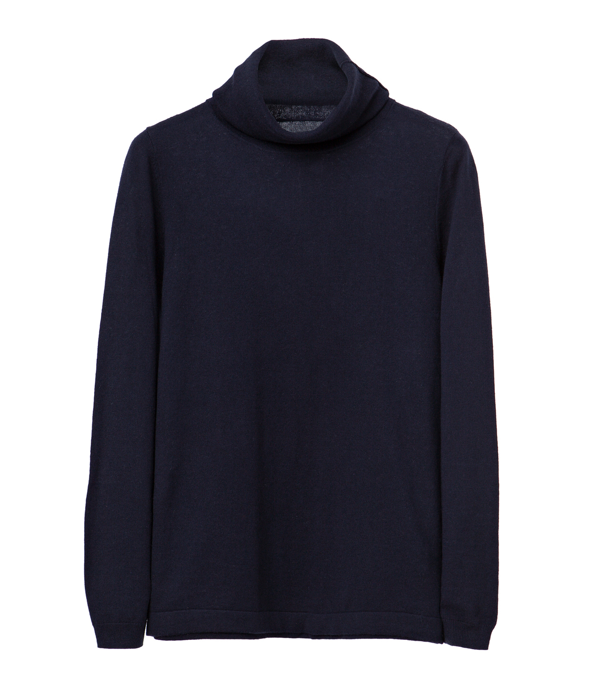 Roll Neck Sweater, Deep Marine Blue