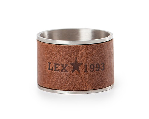 Leather & Metal Napkin Ring