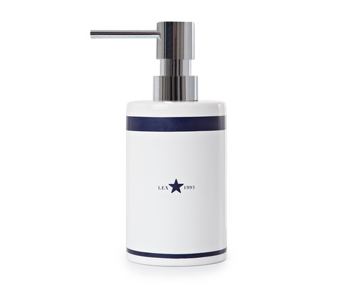 Icons Ceramic Soap Dispenser, Blue