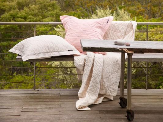 Quilt Bedspread, Beige