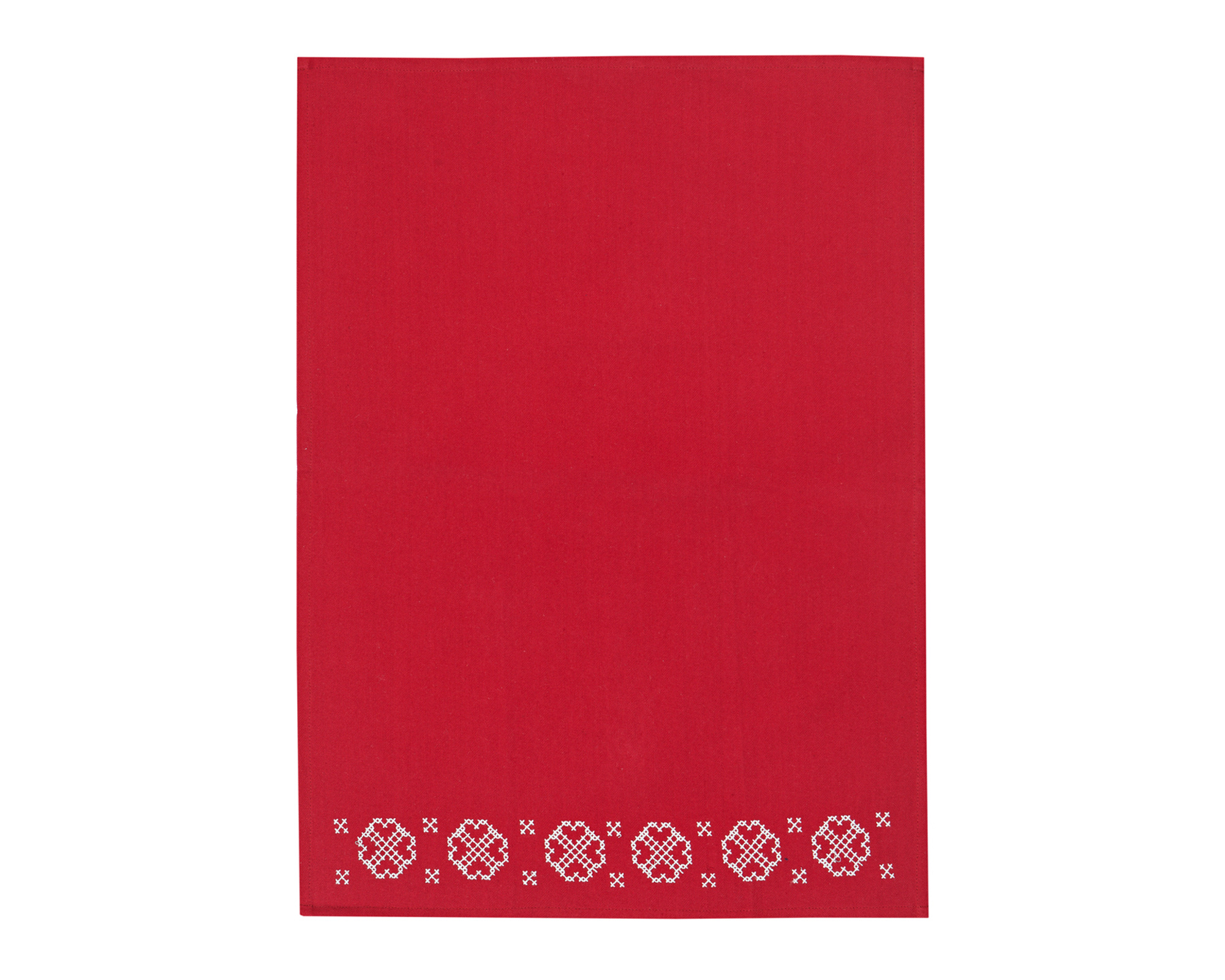 Embroidery Kitchen Towel, Red