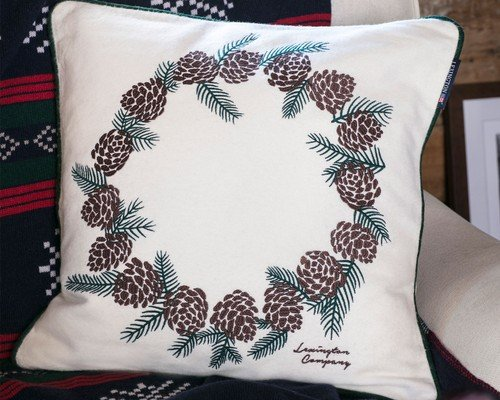 Pinecone Sham, White
